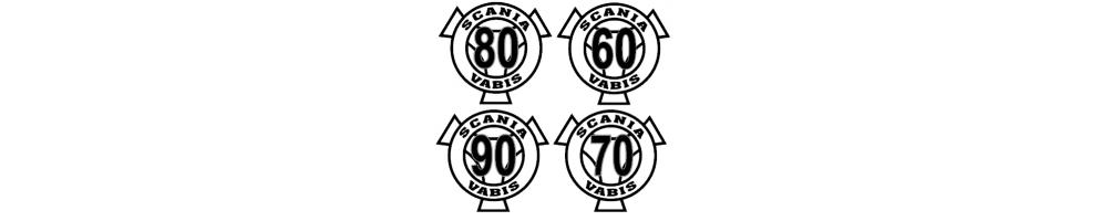 Stickers disques de limitation de vitesse
